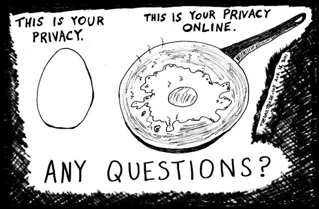لا توجد خصوصية في الانترنت لإنها مسلوقة
